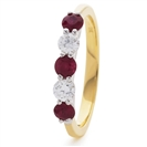 Image for 1.10CT Red Ruby and Diamond Eternity Ring