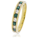 Image for 0.85CT Green Emerald and Diamond Eternity Ring