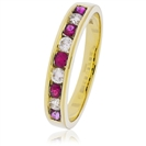 Image for 0.85CT Red Ruby and Diamond Eternity Ring