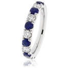 Image for 0.80CT Blue Sapphire and Diamond Eternity Ring
