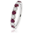 0.80CT Red Ruby and Diamond Eternity Ring