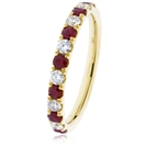 Image for 1.30CT Red Ruby and Diamond Eternity Ring