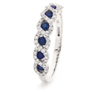 Image for 0.50CT Blue Sapphire & Diamond Eternity Ring