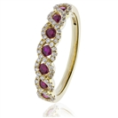 Image for 0.60CT Red Ruby and Diamond Eternity Ring