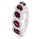 Image for 2.20CT Red Ruby and Diamond Eternity Ring