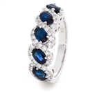 Image for 2.20CT Blue Sapphire and Diamond Eternity Ring