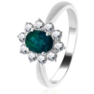 Image for 0.75ct Emerald & Diamond Cluster Ring