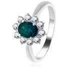 Image for 2.10CT Emerald & Diamond Engagement Ring