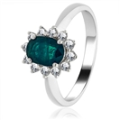 Image for 0.70CT Emerald & Diamond Engagement Ring