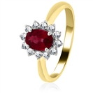 Image for 2.00ct Ruby & Diamond Cluster Ring