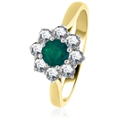 Image for 1.10CT Emerald & Diamond Engagement Ring