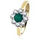 Image for 0.50CT Emerald & Diamond Engagement Ring