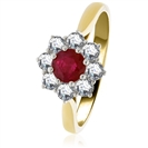 Image for 0.65ct Ruby & Diamond Cluster Ring