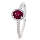 Image for 1.25CT Ruby & Diamond Halo Ring