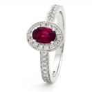 Image for 0.80CT Ruby & Diamond Halo Ring