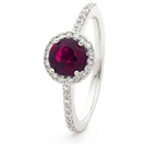 1.20CT Ruby & Diamond Halo Ring