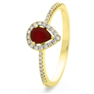 Image for 0.50ct Ruby & Diamond Halo Ring