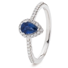 Image for 0.70ct Blue Sapphire & Diamond Cluster Ring