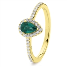 Image for 0.70CT Emerald & Diamond Halo Ring