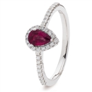 0.70ct Ruby & Diamond Cluster Ring