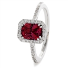 Image for 1.60CT Red Ruby & Diamond Ring