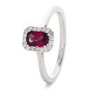 0.80CT Red Ruby & Diamond Ring