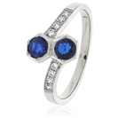 Image for 0.85CT Blue Sapphire & Diamond Cocktail Ring