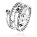 Image for 0.60CT Blue Sapphire & Diamond Dress Ring