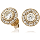 Image for 0.50ct Classic Round Diamond Single Halo Earrings