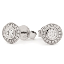 0.50ct Classic Round Diamond Single Halo Earrings