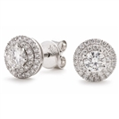 Image for 0.75ct Classic Round Diamond Double Halo Earrings