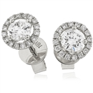 Image for 1.60ct Classic Round Diamond Single Halo Earrings