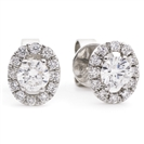 Image for 0.80ct Unique Round Diamond Single Halo Earrings