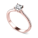Image for Princess & Round Diamond Engagement Ring