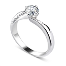 0.65ct I1/G Round Diamond Shoulder Set Ring