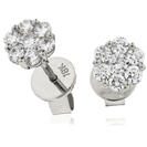 0.30ct Classic Round Diamond Cluster Earrings