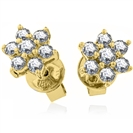 Image for 0.25ct Flower Shaped Round Diamond Cluster Earrings