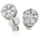 0.60ct Classic Round Diamond Cluster Earrings