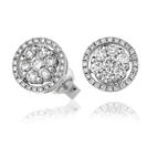 Image for 0.80ct Classic Round Diamond Cluster Earrings