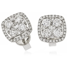 Image for 1.60CT Classic Round Diamond Cluster Earrings