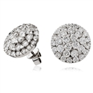 Image for 4.00CT Classic Round Diamond Cluster Earrings
