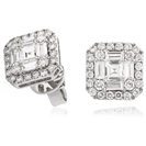 Image for 1.55CT Classic Diamond Cluster Earrings