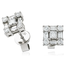 Image for 0.80CT Classic Diamond Cluster Earrings
