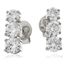0.75CT Modern Round Diamond Drop Earrings