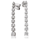 1.50CT Modern Designer Round Diamond Drop Earrings