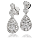 1.00CT Modern Round Diamond Drop Earrings