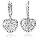 0.80CT Modern Round Diamond Drop Earrings