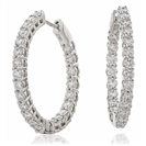 7.00CT Modern Round Diamond Hoop Earrings