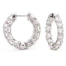 5.00CT Modern Round Diamond Hoop Earrings