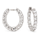 Image for 1.50CT Modern Round Diamond Hoop Earrings